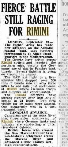 21 Sep 1944   FIERCE BATTLE STILL RAGING FOR RIMINI_rimini foto di guerra