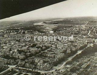Rimini Italy 21 September 1944 Aerial view of Rimini shows the River Marecchia and the bomb-damaged_rimini foto di guerra