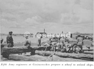 fifth army engineers at civitavecchia civitavecchia prepare a wharf to unload ships porto 1944