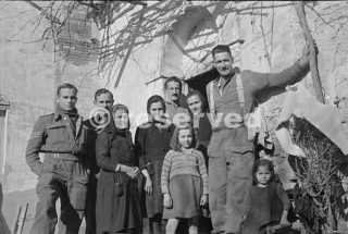 Fotografia scattata vicino a Orsogna circa 6 gennaio 1944_foto di guerra