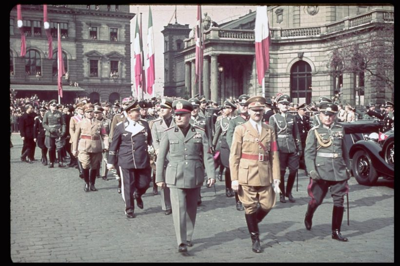 Benito Mussolini during his state visit to Munich on the occasion of the Munich Conference in September 1938