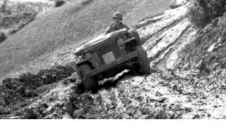 JEEPS ALONG THE SUPPLY ROADS in the northern Apennines