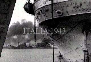 PORTO BARI IN FIAMME 1943