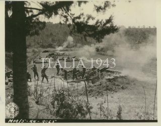 firing at German positions across the Arno River Fifth Army Ponsacco area Italy 29 August 1944