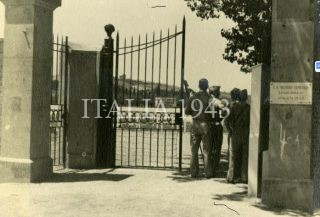 Entrance gate to US cemetery in Castelfiorentino Italy in July 1945