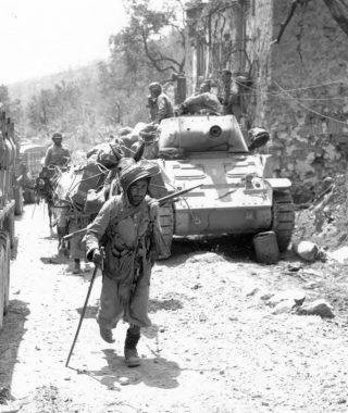 Goumiers delle forze francesi nei Monti Aurunci