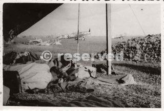 Gustav of JG 53 following a bombing raid on Cancello Naples_napoli guerra