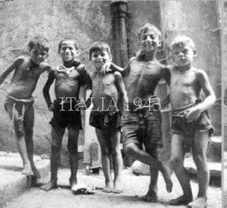 Naples even before the War had a prolem with street children--the scugnizzi