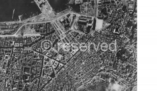 Napoli, World War II aerial view 1943