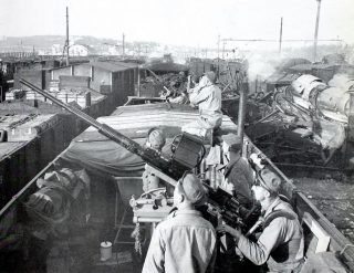 US Army Anti-Aircraft Troops Naples Italy 1943