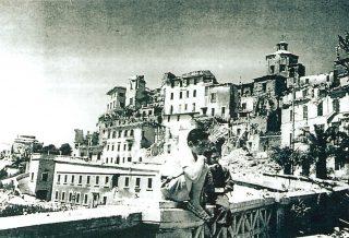 centro storico di Frosinone devastato dai bombardamenti della seconda guerra mondiale