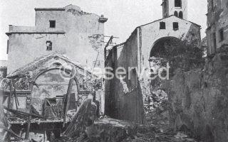 genova Effetti dei bombardamenti del 1943 distruzione dell'oratorio di Santa Maria e San Bernardo