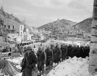 soldati francesi village de Viticuso frosinone italia feb 1944