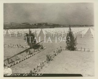 view of the American Military Cemetery at Castelfiorentino 1945