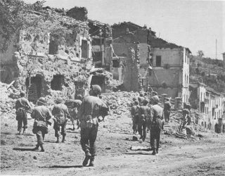 Troops of US 3rd Division entering Valmontane Italy 2 June 1944