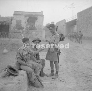 British soldiers have a smoke in Reggio Calabria Italy