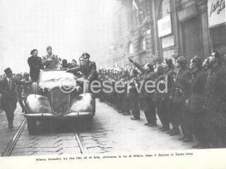 16 dicembre 1944 Mussolini ha appena terminato il discorso della riscossa al Teatro Lirico e attraversa Milano tra due ali di folla