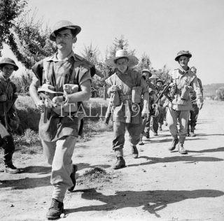 British infantry advance near Arezzo Italy 16 July 1944