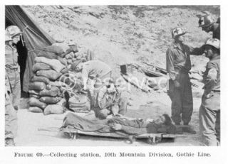 Collecting station, 10th Mountain Division Gothic Line