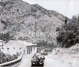 Ingresso degli alleati Americani a Messina il 17 Agosto del 1943 in Via Palermo alta zona Scala Ritiro
