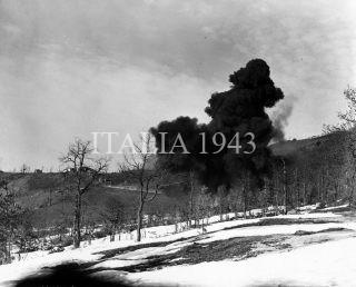 mont belvedere febbraio 1945 Esplosione usata per far esplodere le mine tedesche