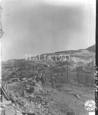 18 April 1945 Fifth Army Monterumici Italy Fresh troops move into former German positions at Monterumici Photo by Schmidt 196th