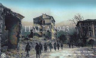 1st Armored Division 81st Recon Squadron Vergato Via G Marconi 16 Aprl 1945