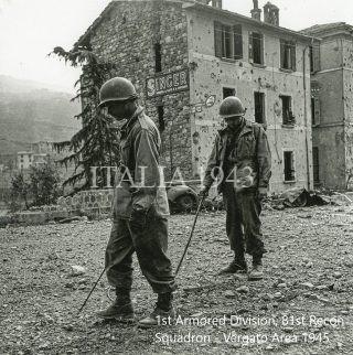 1st Armored Division, 81st Recon Squadron - Via de Cristoforis 44 - Vergato Area 1945