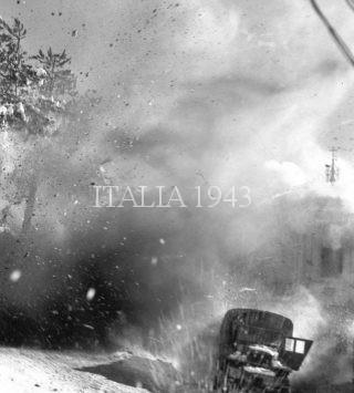 Camion sulla strada 65 vicino a Loiano riceve missile gennaio 1945
