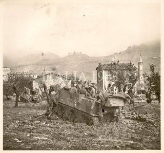Castel Del Rio vicino a Bologna Italia 1944 novembre