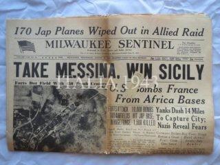 MESSINA NEWSPAPER 1943